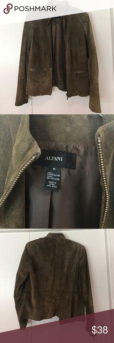 Brown soft leather jacket Suede leather jacket. 100% genuine leather jacket. Alfani Jackets & Coats