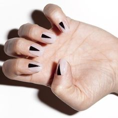 Hey guys check out the quick tutorial for these nails on @allure_magazine daily beauty reporter.. http://www.allure.com/beauty-trends/blogs/daily-beauty-reporter/2014/04/the-halfmoon-mani-with-a-twist.html  Base color is my all time fave natural @essiepolish BBF Best boyfriend