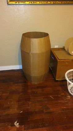 Cardboard barrel. Not finished
