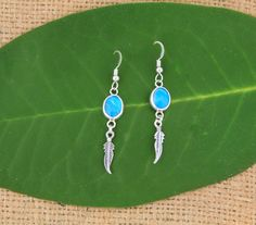 """A Pair of Peruvian Opal Earrings which simply says """"I love you too!"""""""