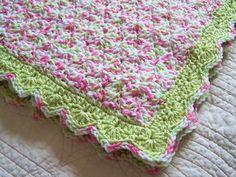 crochet baby girl  blanket. $49.00, via Etsy.