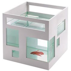 Perfect for your desktop!   Fish Hotel Fish Bowl White - $27.00