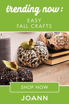 It's time to celebrate the wonderful fall season with cute crafts and creative projects from JOANN! You'll love making your own Pom Pom Coffee Sleeve, Halloween Skeleton Sign, and Painted Paper Mache Pumpkins. Find more fun and trendy ideas here. Easy Fall Crafts, Fall Diy, Cute Crafts, Crafts For Kids, Halloween Skeletons, Halloween Crafts, Halloween Bottles, Cookie House, Coffee Sleeve
