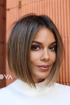 Perfect Bob Hairstyles With Highlights ❤️ Ar. Hairstyles, Perfect Bob Hairstyles With Highlights ❤️ Are you curious to find out creative ideas of exquisite blunt bob hairst. Blunt Bob Hairstyles, Hairstyles Haircuts, Hairdos, Trendy Hairstyles, Short Thin Hairstyles, Choppy Bob Haircuts, Fashion Hairstyles, Beautiful Hairstyles, Little Girl Hairstyles