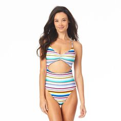 Hurley Swimsuits, Recycled Fabric, Sun Protection, One Piece Swimsuit, Cups, Spandex, Closure, Tie, Detail