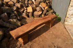 Elm and oak bench por Runningwiththehare en Etsy