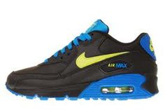 9466b99995 Nike Air Max 90 GS – Black   Volt – Photo Blue