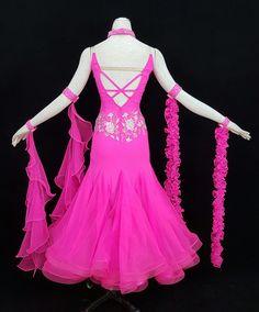 hot pink ballroom dress