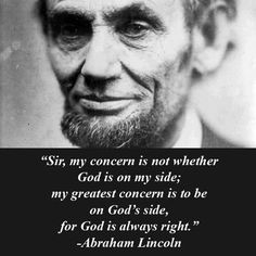 Thank you for this reminder, Mr. Lincoln ;)