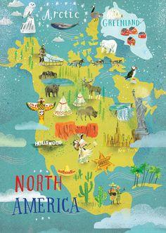 Beach travel North america map, North america drawing, North am. North America Continent Map, North America Flag, North America Geography, America City, South America, Travel Photographie, America Images, North Sails, Scrapbook