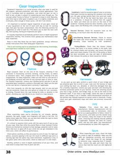 Arborist Gear Inspection Overview from WesSpur Tree Equipment Catalog. Information on inspecting Fliplines, Ropes & Cords, Hardware (Carabiners, Descent Devices, Auto-Braking Descent Devices, and Pulleys/Blocks), Climbing Harnesses, PPE (Helmets), and Climbing Spurs.