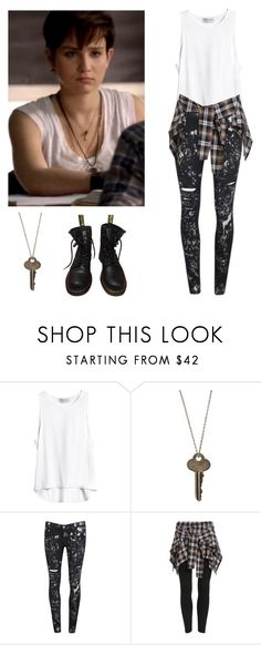 """""""Audrey Jensen - mtv scream"""" by shadyannon ❤ liked on Polyvore featuring The Giving Keys, Paige Denim and Dr. Martens"""