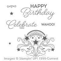 Birthday Blast Clear-Mount Stamp Set by Stampin' Up! 30th Birthday Party For Her, Birthday Blast, Birthday Star, Birthday Celebration, Birthday Cards, Happy Birthday, How To Remove Adhesive, Cool Sketches, Boutique Design