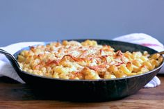 Miso Mac and Cheese recipe on (tasty! depth without being overtly miso-y. used 3 cups milk in order to get a very creamy sauce. Classic Mac And Cheese, Lotsa Pasta, Drying Pasta, Recipe Directions, Savoury Dishes, Food 52, Cheese Recipes, Creative Food, How To Cook Pasta