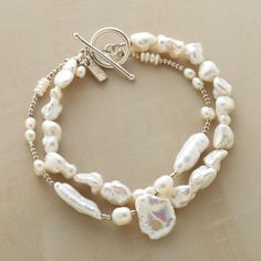 "NOUVELLE PEARL BRACELET -- Pearls for the modern girl—a double-strand bracelet of luminous freshwater pearls that makes any occasion special. Fits wrists 6-1/2"" to 7-1/2""L."
