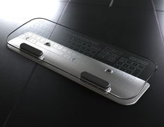Glass keyboard and mouse for over $300.  Don't they tell you in school not to look at your fingers while typing?  #concept #technology