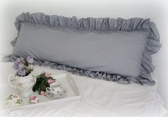 Shabby Chic Cottage French Country Ruffled Gray by whimsicalshabby, $80.00