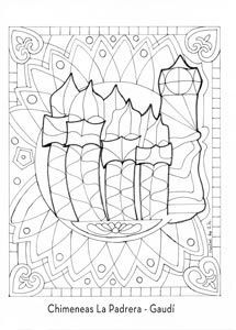 parque guell barcelona para ninos - Buscar con Google Artists For Kids, Art For Kids, Adult Coloring Pages, Coloring Books, Gaudi Mosaic, Antonio Gaudi, Spanish Art, Learn Spanish, Ecole Art