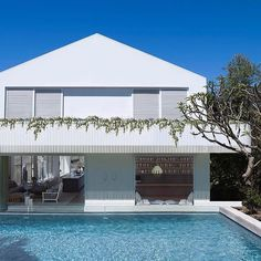 New House Architecture Pool Arquitetura Ideas Australian Architecture, Australian Homes, Residential Architecture, Architecture Interiors, House Architecture, Design Exterior, Interior Exterior, Pool Colors, Suburban House