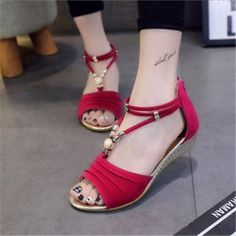 2914fb419b0ab Summer Shoes For Women Image is loading 2018-Women-Summer-Fashion-Sandals