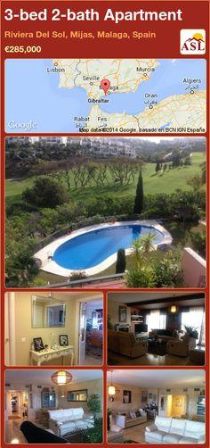 3-bed 2-bath Apartment in Riviera Del Sol, Mijas, Malaga, Spain ►€285,000 #PropertyForSaleInSpain