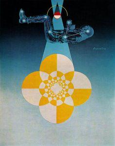 Matthew Leibowitz Illustration, Gebrauchsgraphik No. 2, 1966. Via sandiv999, via Flickr