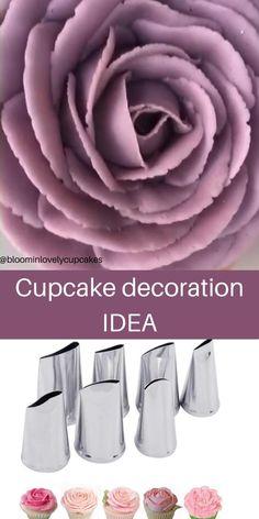 Buttercream Cake Decorating, Cake Decorating Designs, Creative Cake Decorating, Cake Decorating Techniques, Cake Decorating Tutorials, Cookie Decorating, Easy Cake Designs, Cupcake Decoration, Decoration Patisserie