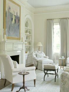 I'm dreaming of a white {living room}   Laurel Bern Interiors   Phoebe Howard