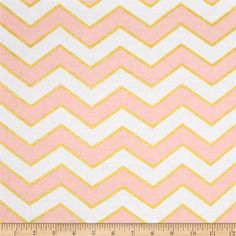 Michael Miller Glitz Metallic Chic Chevron Pearlized Confection from @fabricdotcom  From Michael Miller, this cotton print is perfect for quilting, apparel and home decor accents.  Colors include pink and metallic gold.