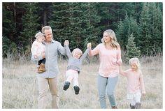Walking through a mountain meadow Brooke Bakken Utah Family Photographer