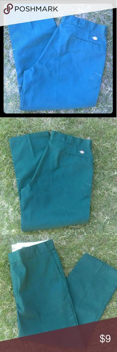 NWOT Dickies Work Pants NEW Without Tags... The Original Work Pant... Dickies Dark Green Work Pants... Size 40X30... 874 Original Fit...  No Iron Stain Release Permanent Crease  Lifetime Guarantee Dickies Pants