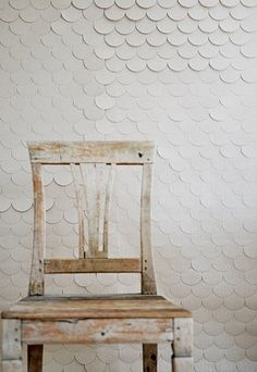 Scalloped scale wallpaper by Catherine Hammerton.