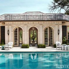 <p>Full of romance and charm, this pool house is a masterpiece in miniature</p>