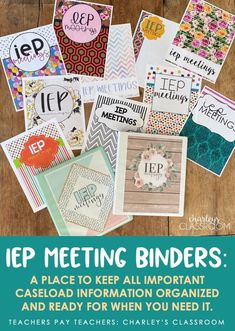 Special education teachers, as well as regular education teachers, can have quite the caseload of special education students. My IEP Meetings Binder will take away some of the stress for planning an upcoming IEP meeting for you as it has for me! ALL binder options include: a secured PDF (for print Teacher Pay Teachers, Teacher Resources, Iep Meetings, Co Teaching, Progress Monitoring, Binder Organization, Special Education Classroom, Good Notes, Distance