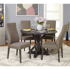 Shop for Simple Grey Living 5-Piece Glen Trestle Dining Set. Get free delivery at Overstock.com - Your Online Furniture Shop! Get 5% in rewards with Club O! - 21124370