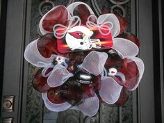 AZ Cardinals Deco Mesh Wreath by RockinMyParty on Etsy, $75.00