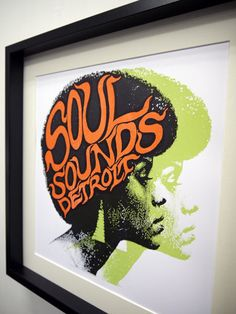 SOUL SOUNDS DETROIT -Art Print by PRINT MAFIA