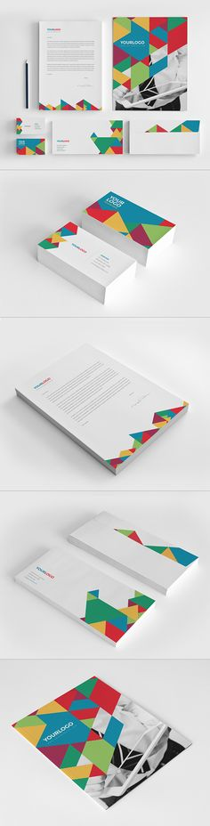 Colorful Modern Stationery on Behance