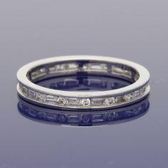 18ct Baguette & Round Diamond Full Eternity Ring £995.00 Wedding Bands, Our Wedding, Full Eternity Ring, Gold Art, Baguette, Round Diamonds, Metal, Rings, Style