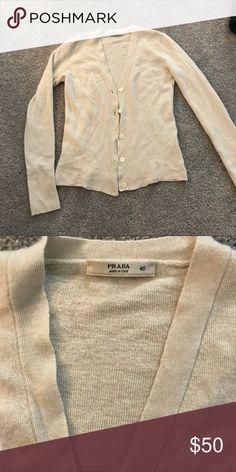 PRADA cashmere cardigan Great cashmere cardigan, size 40 (fits as an xs) Prada Sweaters Cardigans