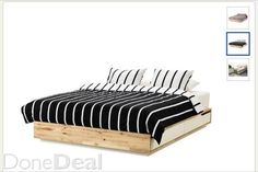 Mandal bed frame with storage Bed Frame With Storage, Large Bedroom, Outdoor Furniture, Outdoor Decor, Stuff To Buy, Home Decor, Decoration Home, Room Decor, Home Interior Design