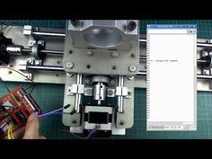 DIY mini CNC machine part 4 (testing movement) Machine Parts, Cnc Machine, Plasma Cnc, Maker Shop, Cnc Projects, Cnc Router, Arduino, 3d Printer, Tech
