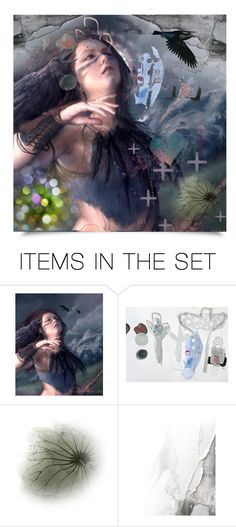 """He laughed at my sins, in his arms I must stay"" by craftygeminicreation ❤ liked on Polyvore featuring art, Dark, expression, morgan and Raven"