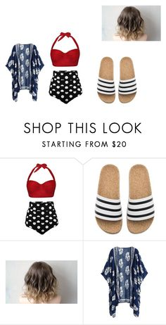"""""""Beach Day"""" by summer-grace-2003 on Polyvore featuring adidas"""