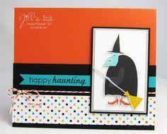 Motley Monsters DSP and Ghoulish Greetings Stamp Set ... Halloween Card   www.JillsInk.com