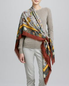 Scialle Holbein Soft Scarf by Loro Piana at Neiman Marcus. no wonder I love it $1595.00 cashmere and silk. Made in Italy.