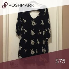 Free People Floral Dress Free people floral dress, black with white flowers! Great condition! Free People Dresses
