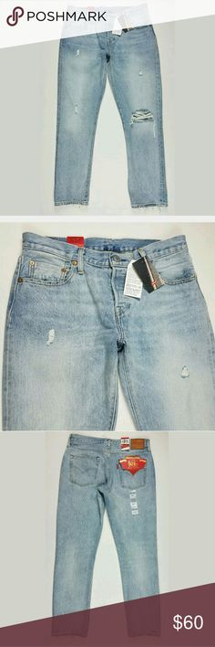 Levis 501 Mom Selvedge Boyfriend Jeans 28 X 32 These are new with the tags and so cute levis Jeans Straight Leg