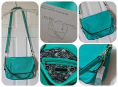 Urban Expressions Booker Fold Over Crossbody Bag - Teal Green