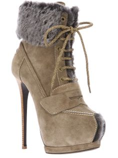1c53ce8e6c9 Beige suede booties from Gianmarco Lorenzi featuring a peep toe